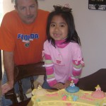 A little girl adopted from Guatemala