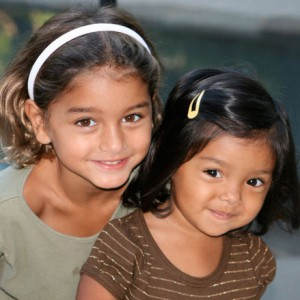 Sisters adopted from Russia and Guatemala
